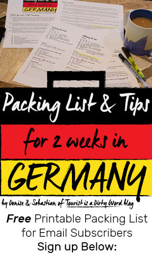 Free Packing List & Tips for 2 Weeks in Germany for Email Subscribers