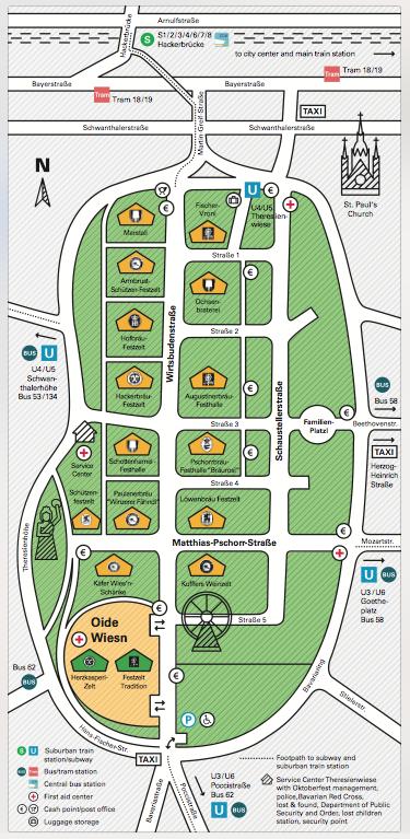 Muenchen.de Official 2015 Oktoberfest Map
