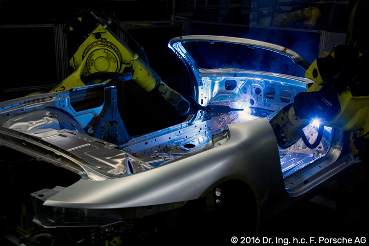 © 2016 Dr. Ing. h.c. F. Porsche AG | Robots Welding Car Body in Porsche Factory