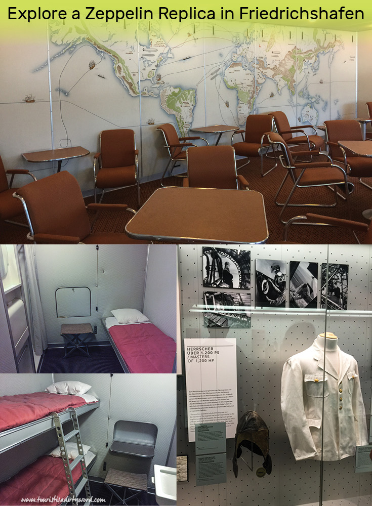 Recreated lobby and crew member rooms from the Zeppelin Museum in the Zeppelin Museum in Friedrichshafen, Germany