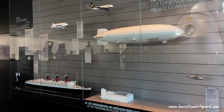 Size comparison to the LZ 129 Hindenburg Exhibit at the Zeppelin Museum in Friedrichshafen, Germany