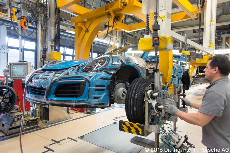 © 2016 Dr. Ing. h.c. F. Porsche AG | Porsche Factory Production Line Tire Installation