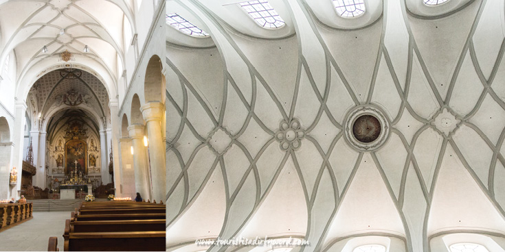 White washed, plaster, arch ribbed ceiling at Muenster Unserer Lieben Frau | Cathedral of Our Dear Lady, Konstanz, Germany