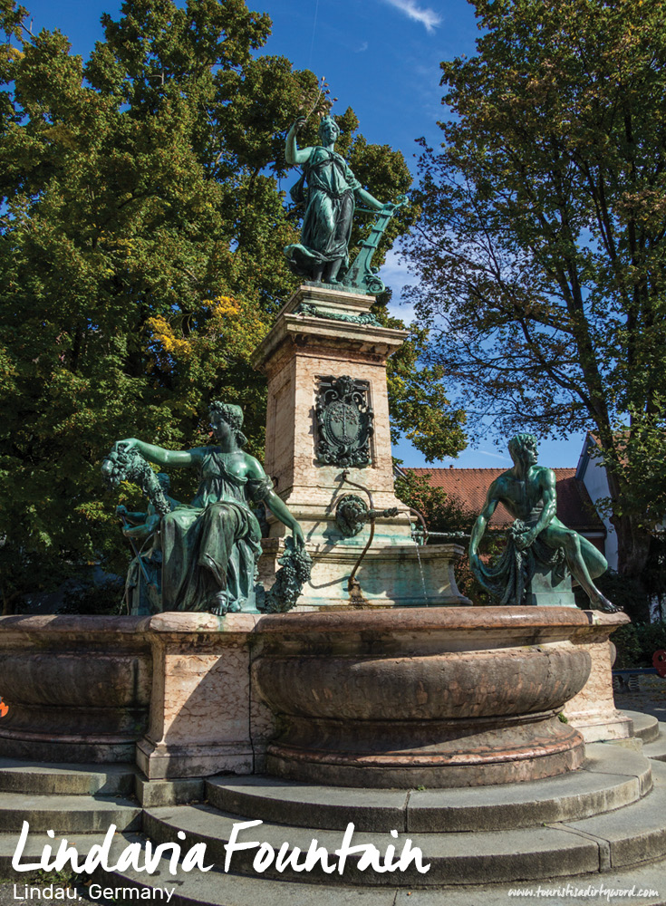 Lindavia Fountain by Lindau Altes Rathaus | Germany