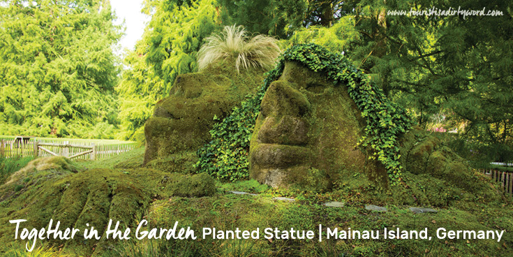 'Together in the Garden' Planted Statue in Mainau Island, Germany