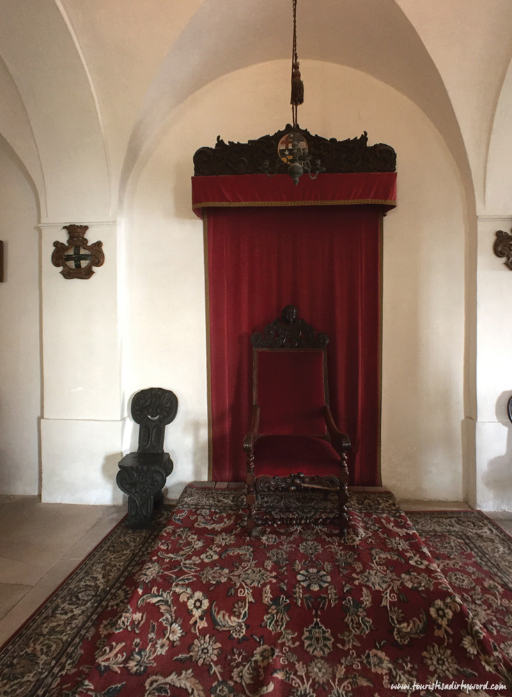 Throne in Meersburg Castle, Germany