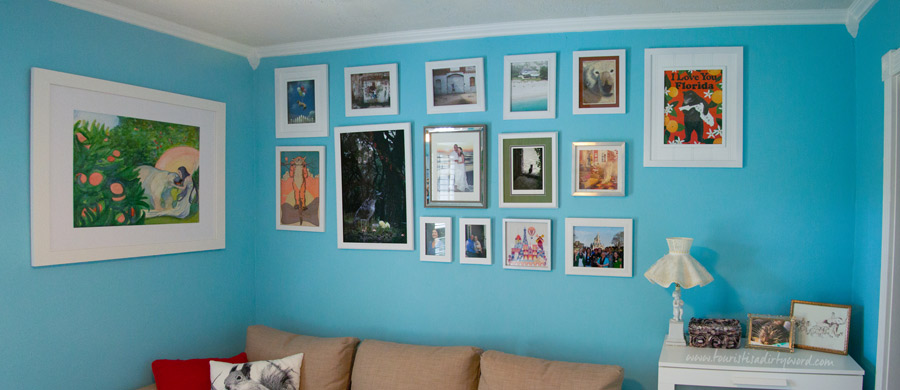 My Gallery Wall, after being inspired by the Old Masters Wall in the Staedel Museum, Frankfurt