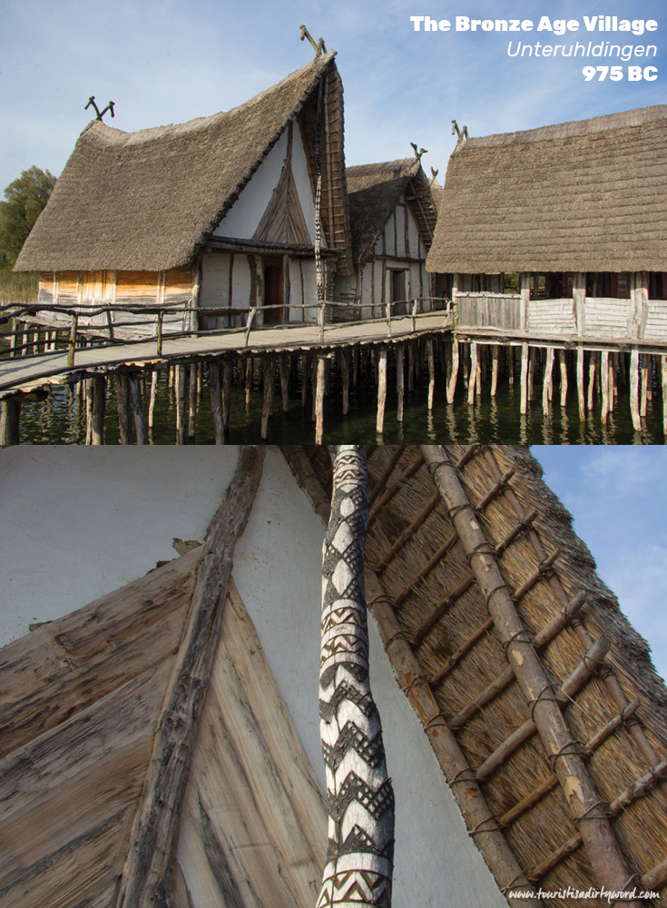 Bronze Age Village | Reconstructed Pile Dwellings of Unteruhldingen at the Open-Air Lake Dwelling Museum | Germany