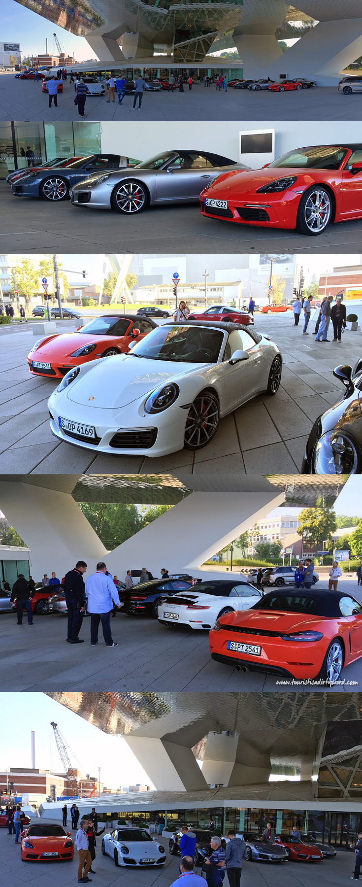I expected to park in a garage or in a lot, but to my surprise our group has special parking privileges right in front of the Porsche Museum entrance.