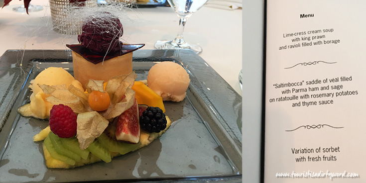 Lunch at the Christophorus Restaurant in the Porsche Museum Dessert