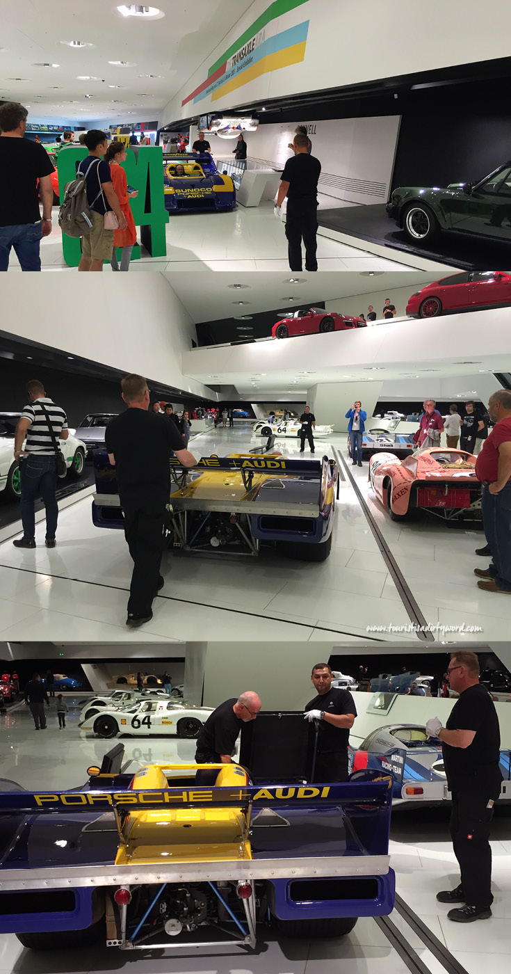 Porsche Museum Race Car Being Returned To Its Exhibit