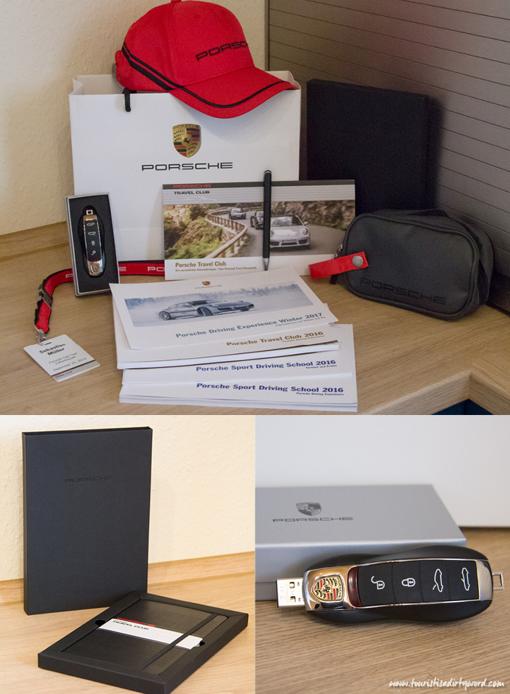 Porsche Goody Bag from the Ultimate Porsche Driving Experience in Germany