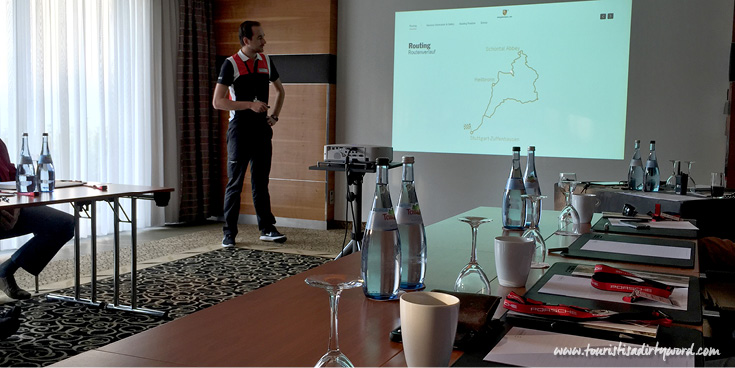 Morning briefing and paperwork for the Ultimate Porsche Driving Experience in Germany