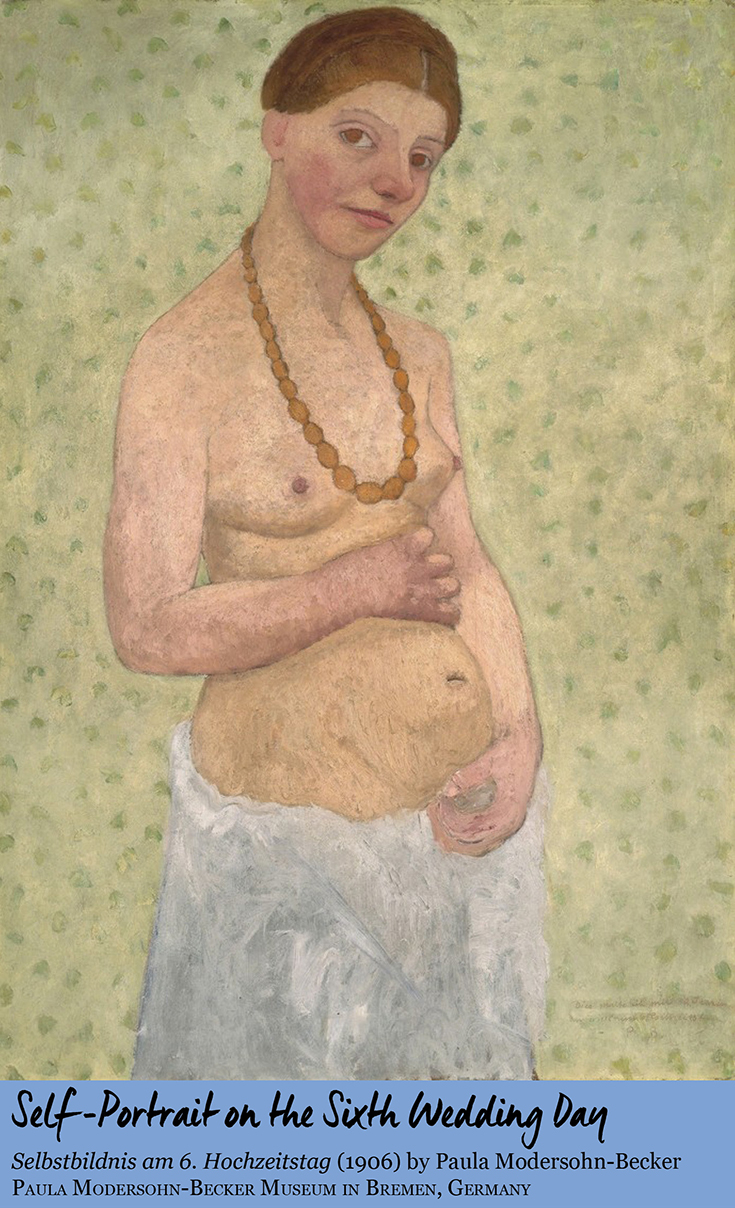 Self-portrait on the Sixth Wedding Day by Paula Modersohn-Becker • Paula Modersohn-Becker Museum in Bremen, Germany