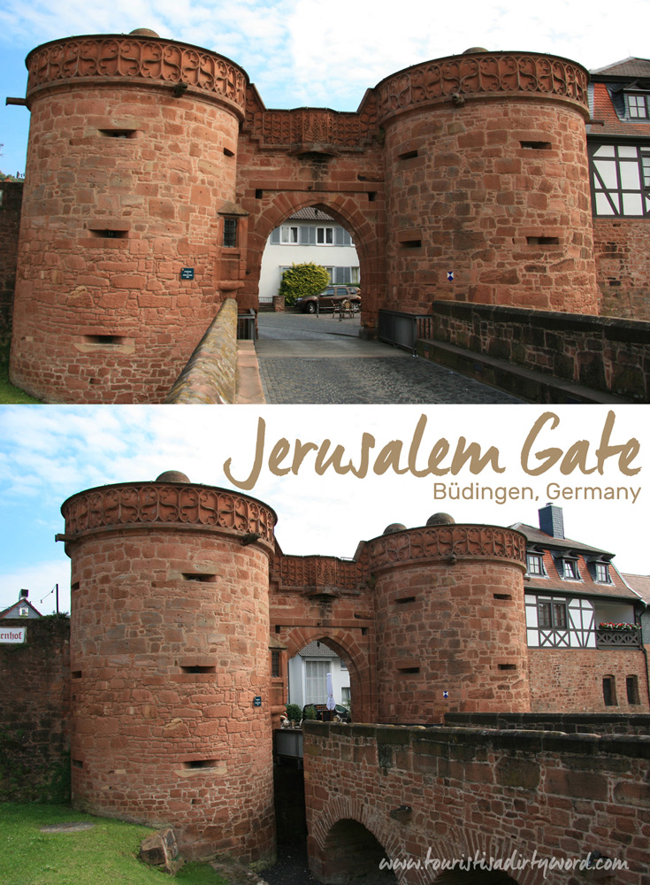 The Jerusalem Gate, built in 1503, in Büdingen, Germany