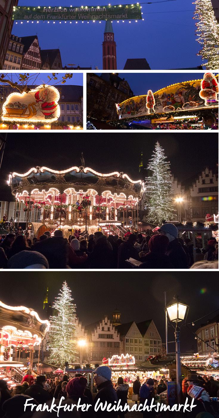 Frankfurter Weihnachtsmarkt Carousel, Römer, and Stalls