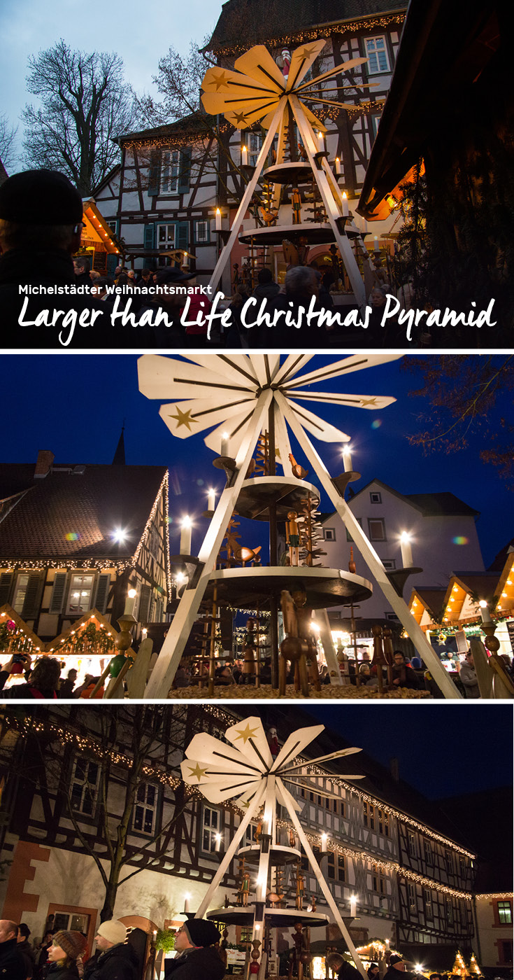 Michelstädter Weihnachtsmarkt boasts a Larger than Life Christmas Pyramid