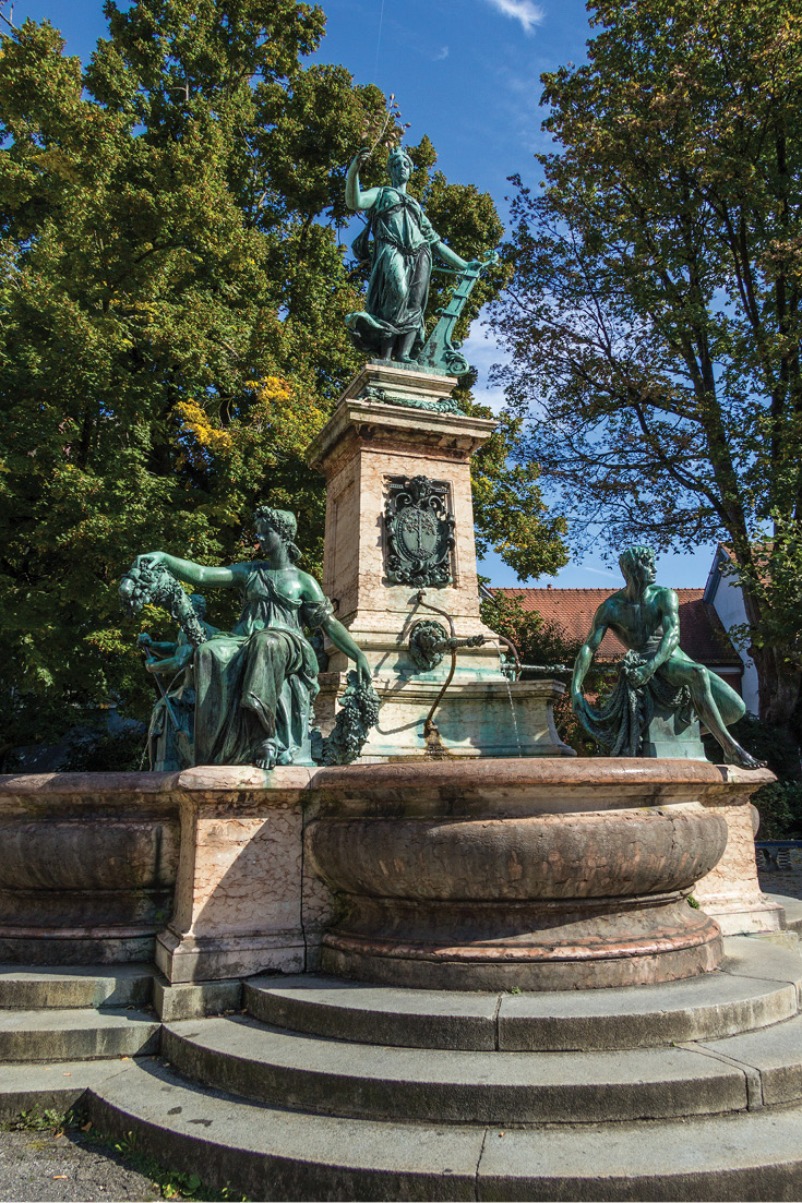 Fountain in Lindau, Germany