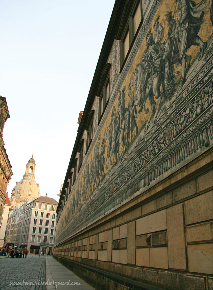 Furstenzug, the Procession of Princes, porcelain mural in Dresden Germany • Tourist is a Dirty Word Germany Travel Blog