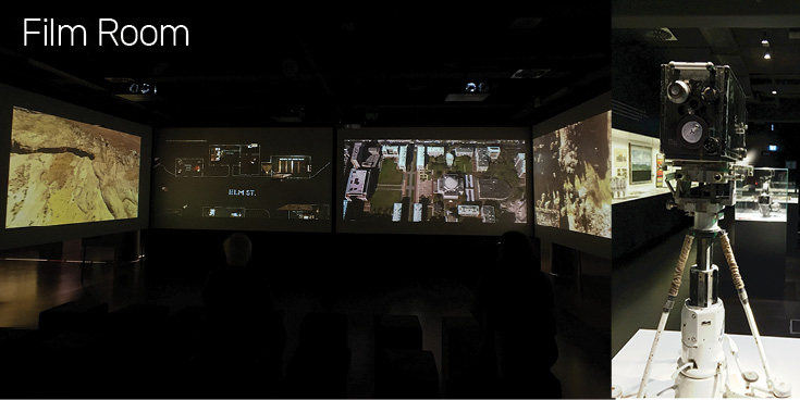 Film Room Exhibit at the Frankfurt Deutsches Filmmuseum