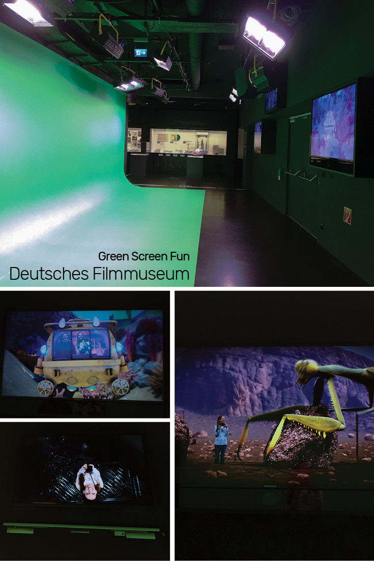Green Screen Fun on the 2nd floor of the Frankfurt Deustches Filmmuseum