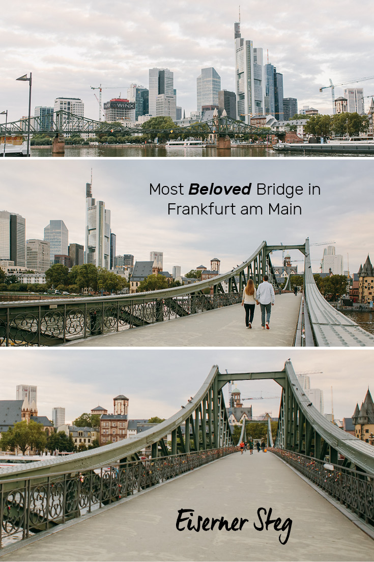 The most beloved bridge in Frankfurt am Main, the Eiserner Steg! Its pedestrian only and offers a perfect view of the 'Mainhatten' skyline.