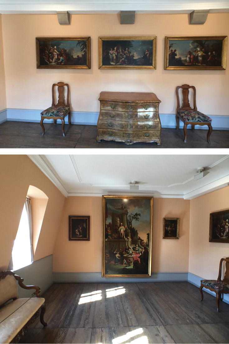 Johann Georg Trautmann created his Joseph painting series in this room, and now here it is displayed again | Goethe House Frankfurt