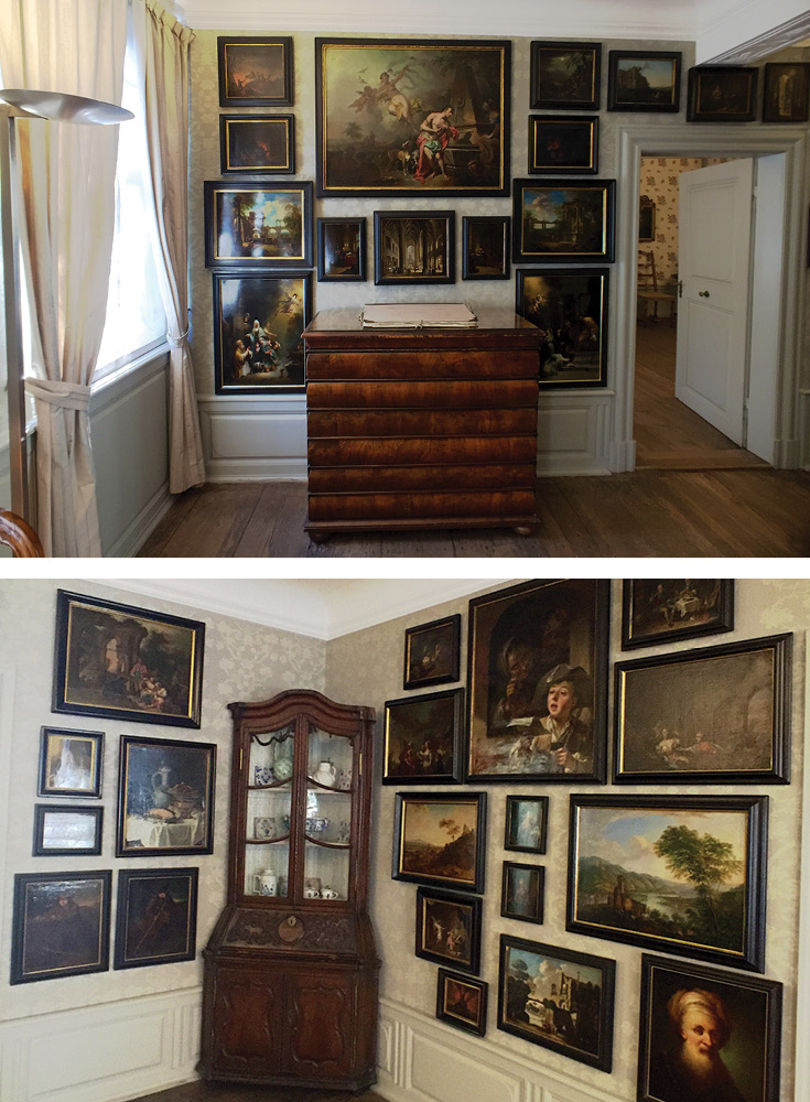 Goethe loved art and especially the Dutch traditional style. He collected local Frankfurt & Darmstadt painters and displayed them in the picture room | Goethe House Frankfurt