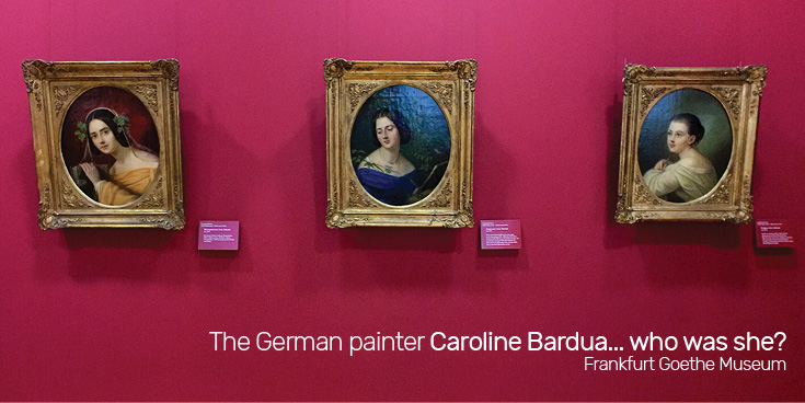 The German painter Caroline Bardua...who was she? Her three portraits of the Von Arnim sisters hang in Room 11 of the Frankfurt Goethe Museum