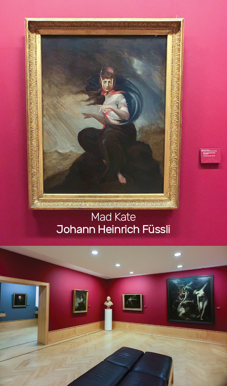 The painting Mad Kate by Henry Fuseli on display at the Frankfurt Goethe Museum represents the Sturm und Drang movement