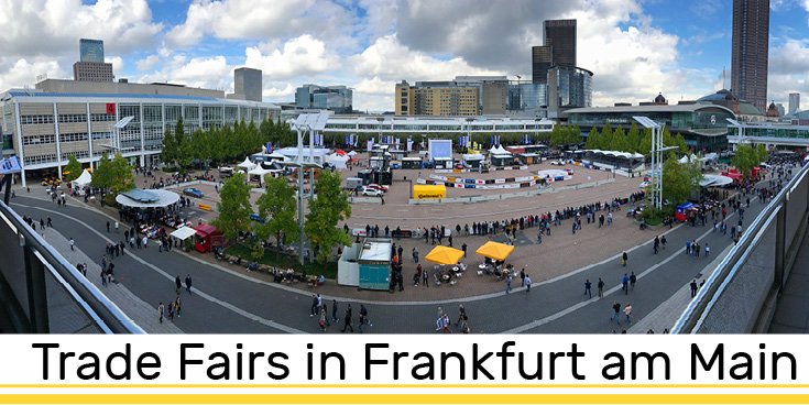 Trade Fairs in Frankfurt Outdoor Panorama