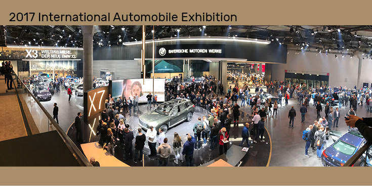 2017 International Automobile Exhibition Festival Halls in Frankfurt am Main