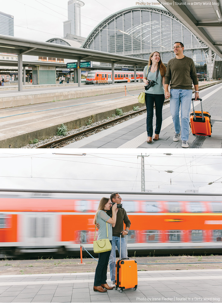 Ready to leave on an adventure at the Frankfurt am Main Train Station or Hauptbahnhof | Photo by Irene Fiedler for Tourist is a Dirty Word Blog