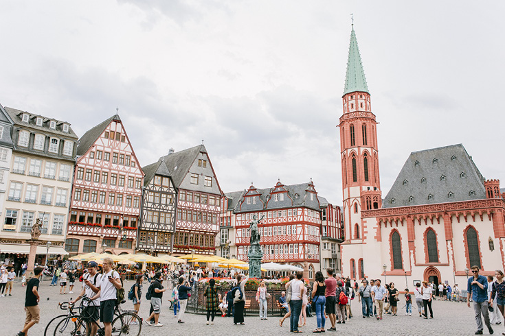 Alte Nikolaikirche, or Old St. Nicholas Church, to the left of the Roemer, Frankfurt am Main, Germany