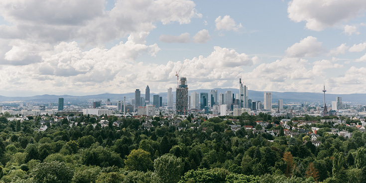 Fourteen of the fifteen tallest buildings in Germany are in Frankfurt, which is nicknamed Mainhatten for this reason.