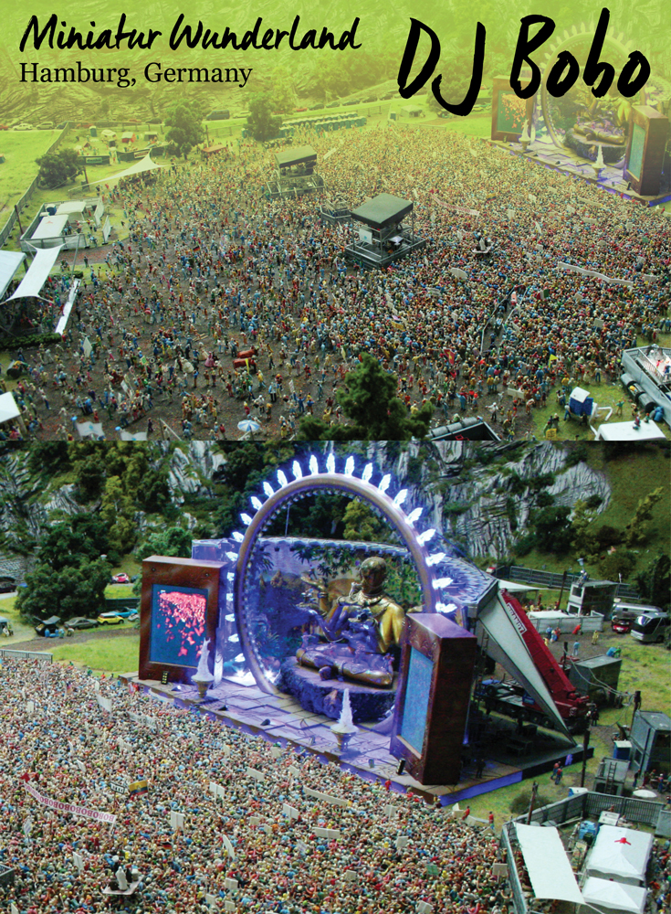 Miniature DJ Bobo Concert at the Miniatur Wunderland, Hamburg • Germany Travel Blog Tourist is a Dirty Word