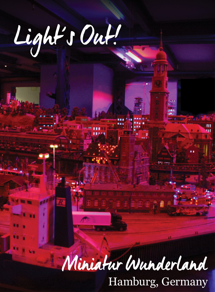 Lights Out Hamburg scene at the Miniatur Wunderland • Germany Travel Blog Tourist is a Dirty Word