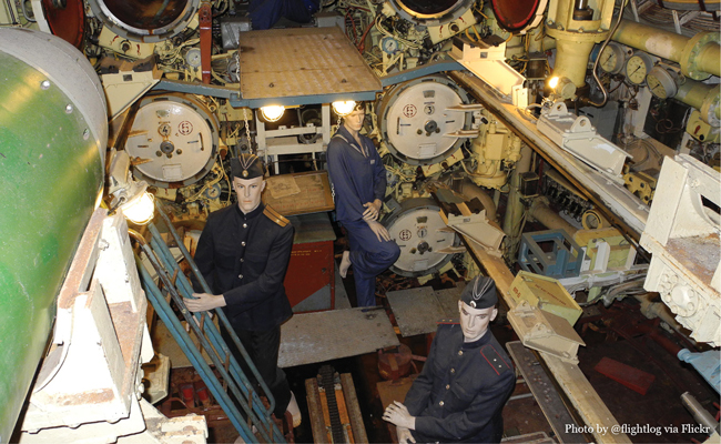 Inside the U-434, photo by user Flightlog via Flickr • Experience visiting the U-434 Submarine in Hamburg Germany