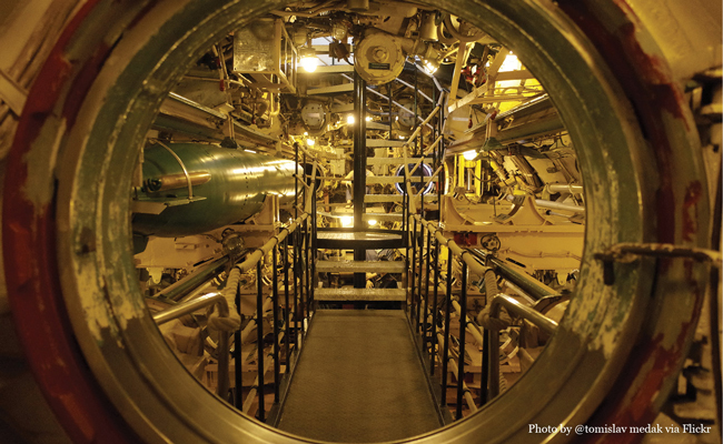 Inside U434 Photo by Flickr user tomislav medak • Experience visiting the U-434 Submarine in Hamburg Germany