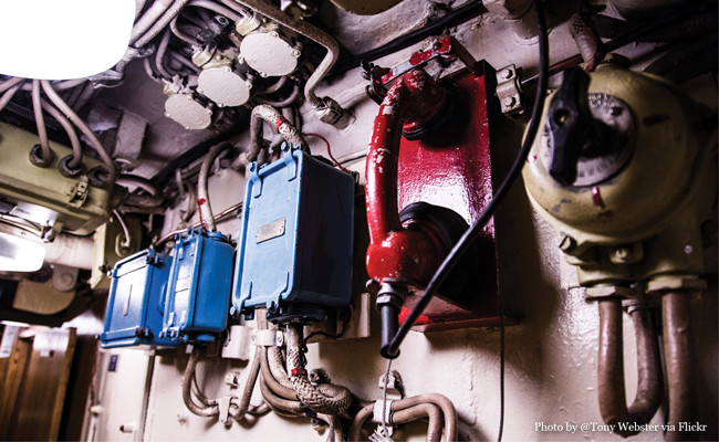 Red Telephone to the Kremelin Photo by Flickr User Tony Webster • Experience visiting the U-434 Submarine in Hamburg Germany