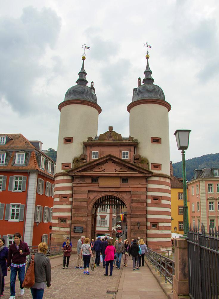 Guard Towers of the Old Bridge of Heidelberg
