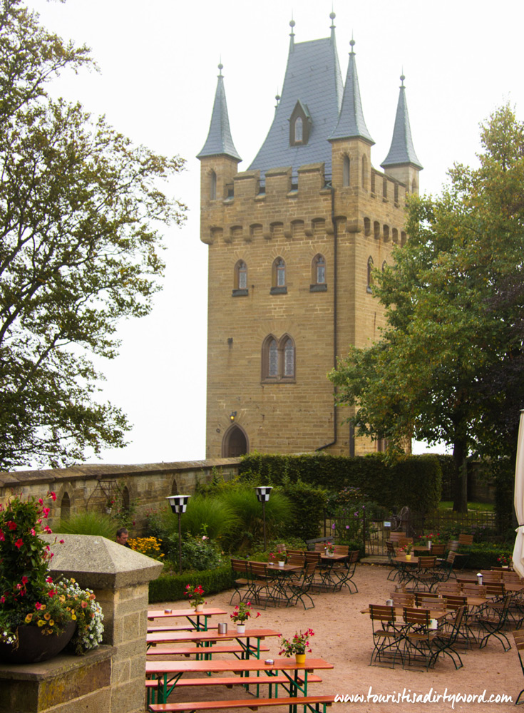 Burg Hohenzollern Beer Garden Overlooking Gate Tower