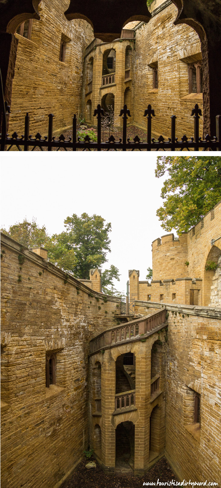 Ramp, interior courtyard of Burg Hohenzollern