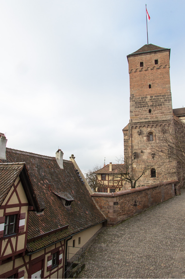 Heathen Tower and Stables from the Imperial Castle of Nuremberg, Germany