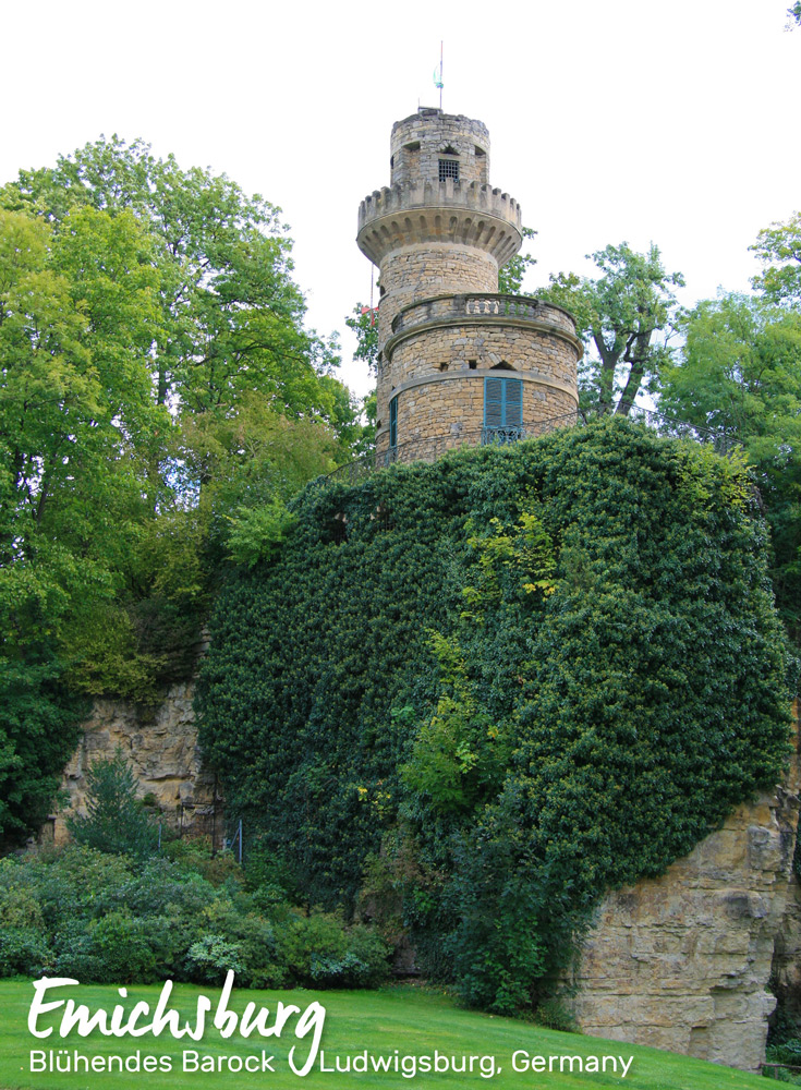 Emichsburg, Rapunzel's Tower in the Fairy Tale Garden in Ludwigsburg