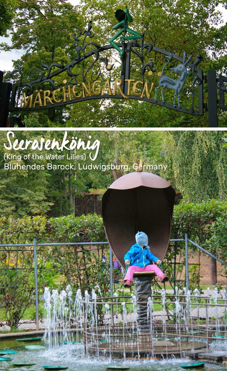 Seerosenkönig (King of the Water Lillies) attraction in the Fairy Tale Garden Ludwigsburg