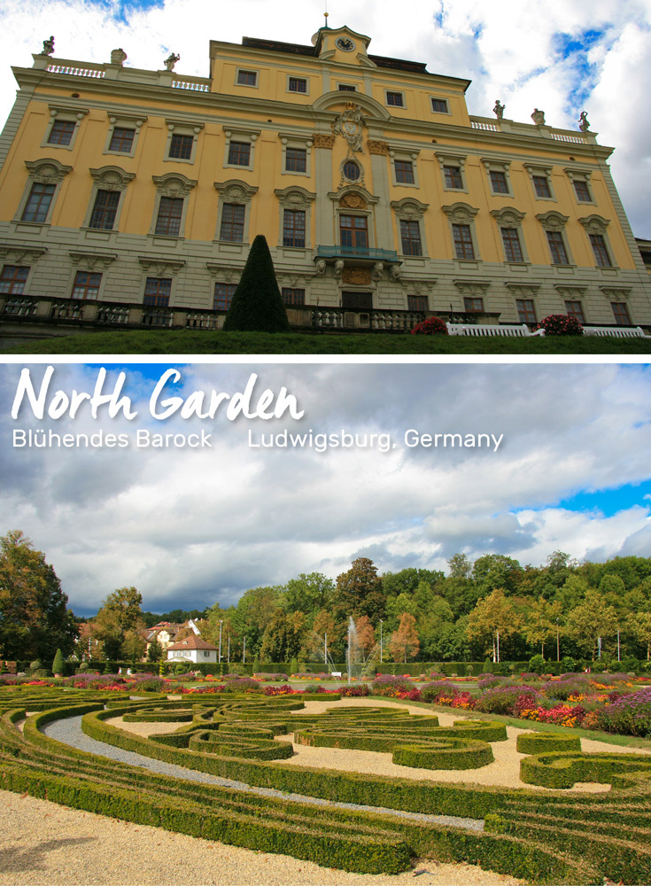 North Facade of the Castle and the Oldest Garden | Blühendes Barock, Ludwigsburg, Germany