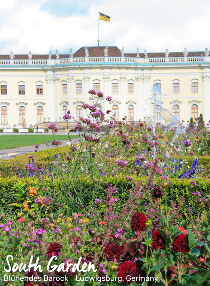 South Garden with the Palace | Blühendes Barock, Ludwigsburg, Germany