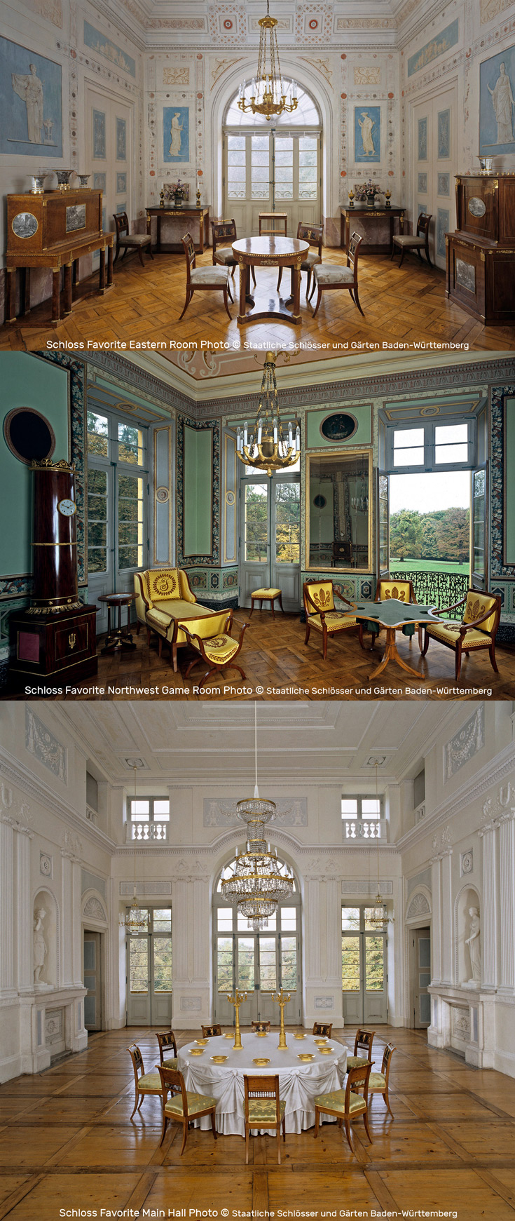 German Examples of Beautiful, Well-preserved Neoclassical Interiors | Interior Schloss Favorite Photos by Staatliche Schlösser und Gärten Baden-Württemberg
