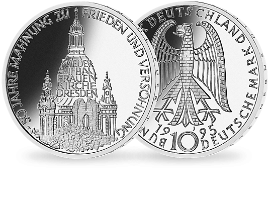 Silver Coins for the Reconstruction of the Dresden Frauenkirche